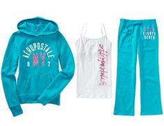 Aeropostale Hoodie Cami Sweat Pants           ($76.50) http://www.amazon.com/exec/obidos/ASIN/B00H869I8O/hpb2-20/ASIN/B00H869I8O