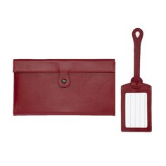 Corban & Blair Poco Profile Travel Set: Red - $164.00 #travelwallet #documentwallet