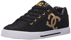 DC Womens Chelsea X TR Skate Shoe Black Print 5 M US * Click on the image for additional details.
