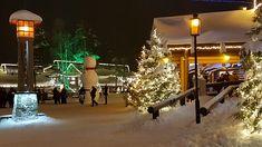 Arctic Circle & Santa Claus Village in Rovaniemi in Lapland in Finland.