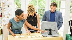 """Kim Hawthorne from OWN's """"Greenleaf"""" shows off her crafty side with these DIY Earrings. For more, tune in to Home & Family weekdays at 10a/9c on Hallmark Channel!"""