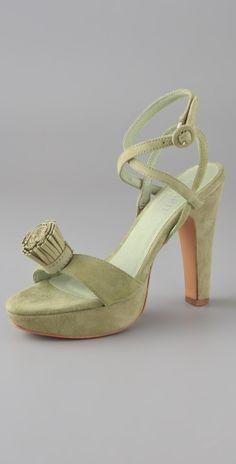Pom Pom Platform Sandals by tisha