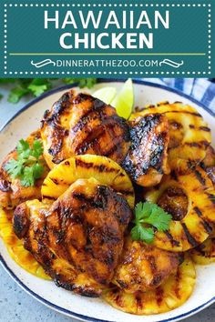 These easy grilled chicken Recipes that are some of the best in the world. Grilled chicken dishes as everyone looks forward to these dish on the table. Chicken Thigh Recipes, Grilled Chicken Recipes, Pineapple Chicken Recipes, Hawaiian Recipes, Teriyaki Chicken With Pineapple, Grilled Pineapple Recipe, Summer Chicken Recipes, Grilled Food, Pineapple Salsa