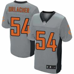$129.99 Men's Nike Chicago Bears #54 Brian Urlacher Elite Grey Shadow Jersey