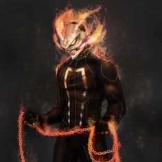 Chariots of Fire Robbie Reyes, the new Ghost Rider by Gustavo #comics #art