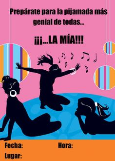 Divertidas invitaciones de pijamada para imprimir | Fiesta101