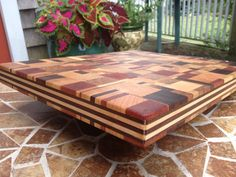 End Grain Cutting Board Walnut Cherry Ash by JordanHandMade