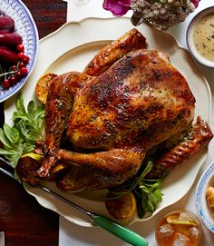 This herb and citrus better roasted turkey can stay warm for about an hour after its been taken out of the oven.