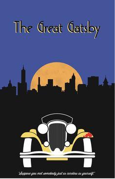 The Great Gatsby (2013) ~ Minimal Movie Poster by Jarrod Joachim #amusementphile
