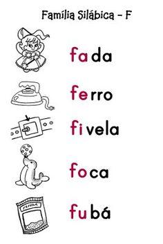 O Mundo da Alfabetização: Silabário - F, G, H