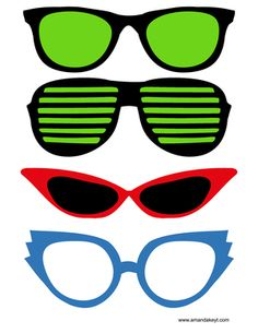 Glasses from Hitchhiker's Guide to the Galaxy Inspired Printable Photo Booth Prop Set