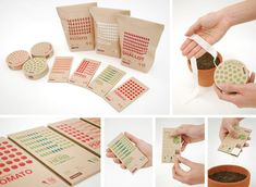 Beautiful seed packaging by Adam Paterson and Santi Tonsukha. Get me to the garden!