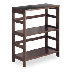 Winsome Leo 2-Tier Wide Wood Bookcase
