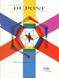 Designer unknown - DuPont Magazine cover January-February 1962; A kaleidoscope of printing inks