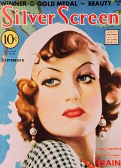 Joan Crawford on the cover of Silver Screen magazine