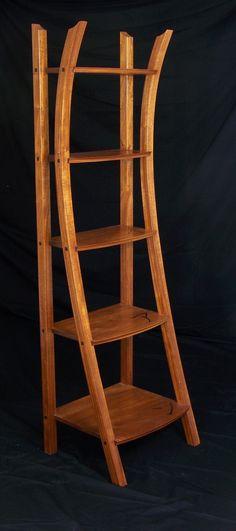 Custom Made Asian Influenced Ladder Shelf Bookshelf Styling, Bookshelves, Ladder Shelves, Japanese Furniture, Contemporary Furniture, Bathroom Shelving Unit, Oriental Fashion, Oriental Style, Massage Room