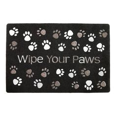 Wipe off those muddy paws before going inside with this charming and durable welcome mat covered all over with a scattering of paw prints. A lovely reminder to visitors that they're entering a pet-friendly household!