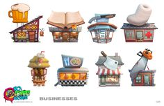 NZA! Buildings Picture  (2d, game art, architecture)