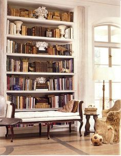 love a beautiful bookshelf