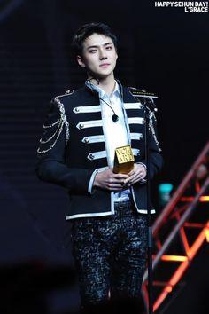 Sehun - 170408 5th YinYueTai V-Chart Awards  Credit: Grace. (第五届音悦V榜年度盛典)