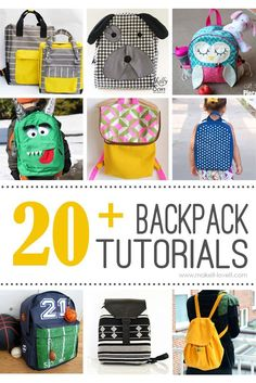 20+ DIY Backpack Tutorials (child and adult styles)...great for back to school! --- Make It and Love It