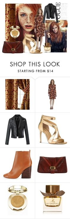 """If only I had RED hair!"" by dor-306 ❤ liked on Polyvore featuring Austin Horn, Tory Burch, Michael Kors, Judith Leiber, Milani, Burberry, redhair, rust, women_fashion and dorataya"