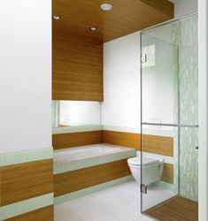 Landsend - Guest Bath - contemporary - bathroom - vancouver - The Sky is the Limit Design Bamboo Bathroom, Small Bathroom, Bathroom Ideas, Bathroom Stuff, Bathroom Designs, Bamboo Ceiling, Bamboo Plywood, Bathroom Design Inspiration, Design Ideas