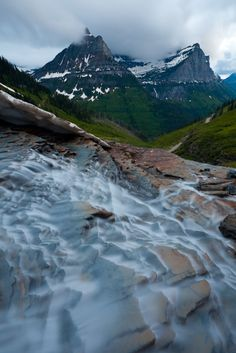 Glacier National Park, Montana, USA - Garden Wall at Dusk by Ben Klea