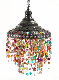 Beads Lamp Hanging pendant lamp Hanging pendant light with beads boho lamp Bohemian lamp Ceiling light Beaded light from Turkish Delight exotic decor. Gypsy Decor, Bohemian Gypsy, Gypsy Style, Bohemian House, Boho Life, Bohemian Clothing, Gypsy Life, Hippie Style, Bohemian Style