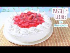 PASTEL 3 LECHES EN MICROONDAS (sin horno - receta - facil) | Mirem Itziar ❤ - YouTube
