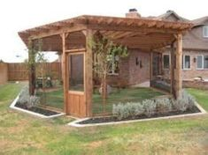 Dog house diy - 55 Inspiring DIY Backyard Projects for Your Pets – Dog house diy Canis, Dog Enclosures, Patio Pergola, Screened Patio, Enclosed Patio, Pergola Kits, Backyard Patio, Pergola Design, Patio Bar