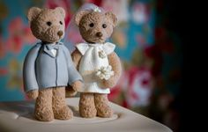 Yes Wedding bear cake Topper