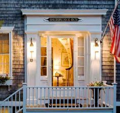 Sherburne Inn, Nantucket. We stayed in an  inn like this while we were building our house. So Charming. L