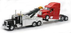 Diecast Auto World - Newray 1/32 Scale Peterbilt Tow Truck With Red Peterbilt Cab Semi Truck 12053, $29.99 (http://stores.diecastautoworld.com/products/newray-1-32-scale-peterbilt-tow-truck-with-red-peterbilt-cab-semi-truck-12053.html/)