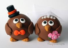 Custom Kiwi Bird Wedding Cake Topper by fliepsiebieps on Etsy