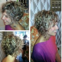 Curly Pixie Hairstyles, Haircuts For Curly Hair, Curly Hair Cuts, Curly Hair Styles, Perms For Short Hair, Short Hair Cuts For Women, Eva Hair, Silver White Hair, Blonde Curly Hair
