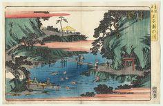 Waterfall River at Oji, circa 1839 -1842 by Hiroshige (1797 - 1858)
