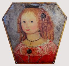 Coffin portrait of Anna Eleonora Mielęcka by Anonymous from Leszno, Academic Art, Baroque Fashion, Memento Mori, Coat Of Arms, Anthropology, 17th Century, Coffin, Anonymous, Rugs On Carpet