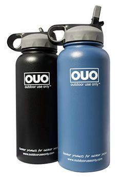 Outdoor Use Onlys 32oz Stainless Steel Double Wall Vacuum Insulated Wide Mouth with Straw Water Bottle Black >>> Details can be found by clicking on the image.Note:It is affiliate link to Amazon.