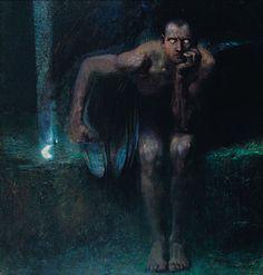 Franz von Stuck, Lucifer, oil on canvas, 1890