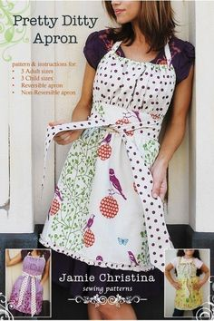 I need a new apron in my home...... Pretty Ditty apron pattern