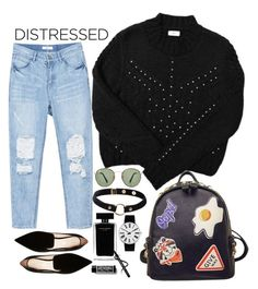 """""""Contest: Distressed Denim"""" by devil-in-a-new-dress ❤ liked on Polyvore featuring YM by Yakshi Malhotra, Nicholas Kirkwood, Ray-Ban, WithChic, Nika, Narciso Rodriguez and Rosendahl"""