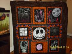 Craftgrrl - Where Crafters Unite! - Nightmare Before Christmas quilted t-shirt throw