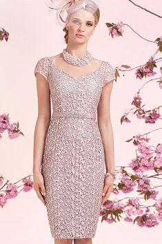 Ronald Joyce 991208 Lace Overlay Dress & Matching Jacket in Damson