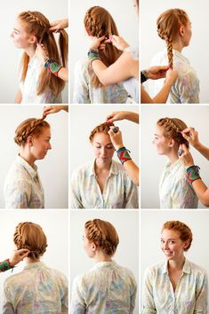 Check out these easy step-by-step tutorials for Halloween hair that . - 20 Breezy Crown Braid Hairstyles for Summer time Braided Hairstyles Tutorials, Trendy Hairstyles, Wedding Hairstyles, Braided Crown Hairstyles, Braid Tutorials, Fast Hairstyles, Wedding Updo, Braided Updo, Braids Step By Step