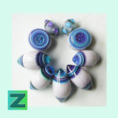 Pacific Berry Glitter Toggles 9 glittery beads by zbeads on Etsy