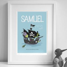 Personalised 'Pirate Ship' Print from notonthehighstreet.com