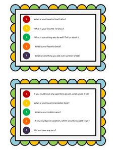 Ice Breaker: A Get-to-Know-You Activity Skittles Ice Breaker: A Get-to-Know-You Activity. Perfect for the first week of school!Skittles Ice Breaker: A Get-to-Know-You Activity. Perfect for the first week of school! Kids Book Club, Book Club Books, Book Clubs, Classroom Activities, Book Activities, Icebreaker Activities, Sleepover Activities, Get To Know You Activities, School Opening