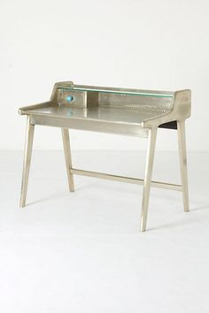 silver writing desk