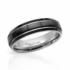 Gentlemens Titanium Band Ring Exquisite gentlemen's band ring crafted in black enamel and titanium. Wedding Engagement, Our Wedding, Wedding Rings, Wedding Ideas, Engagement Rings, Ring Crafts, Titanium Rings, Cool Things To Buy, Stuff To Buy